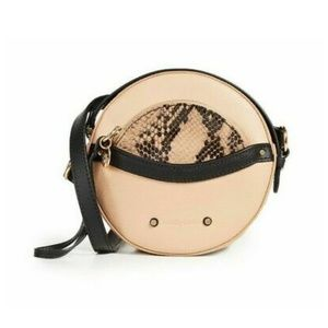 See by Chloe round shoulder bag leather purse